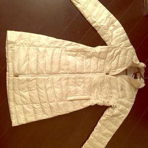 North face white down jacket